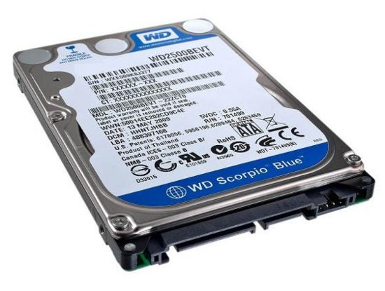 Recovery Data WD7500BPVT